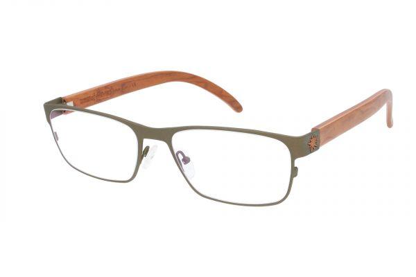 Edelweyes Brille FLOING - Neusilber - Braun - Wurzel