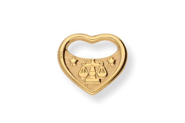Sternzeichen Waage - Anhänger 333 Gold
