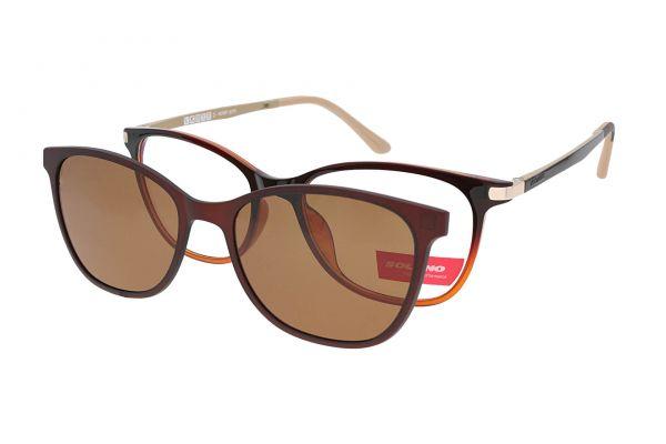 Solano Brille CL90064 C mit polarisiertem Magnet Sonnenclip