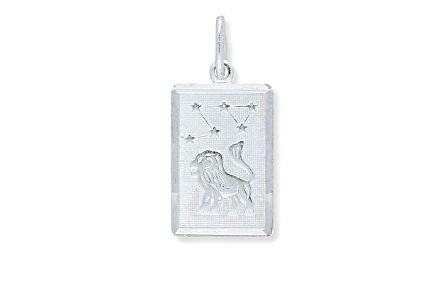 Sternzeichen Löwe - Anhänger rechteckig 925 Silber