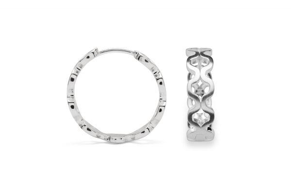 Bastian Creolen 925 Silber im Cut-Out-Design