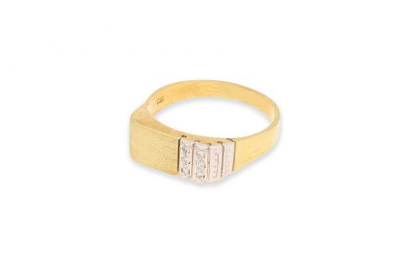 Ring 585 Gelbgold • Diamanten - Seitenansicht