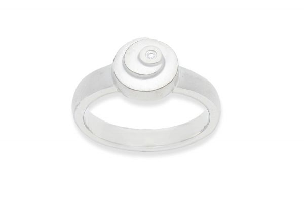 Bastian Ring mit 0,01ct Diamant Silber 925 rhodiniert - 12821