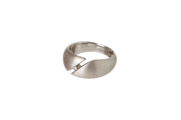 Bastian Ring 925 Silber mit 0,05 ct Diamant