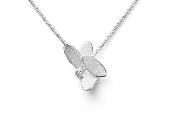 Bastian Floraler Anhänger Silber 925 mit 0,02ct Diamant - 27961