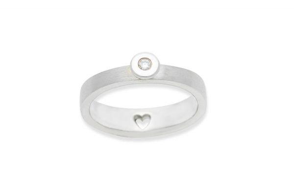 Bastian Ring mit Granat Silber 925 rhodiniert - 12823