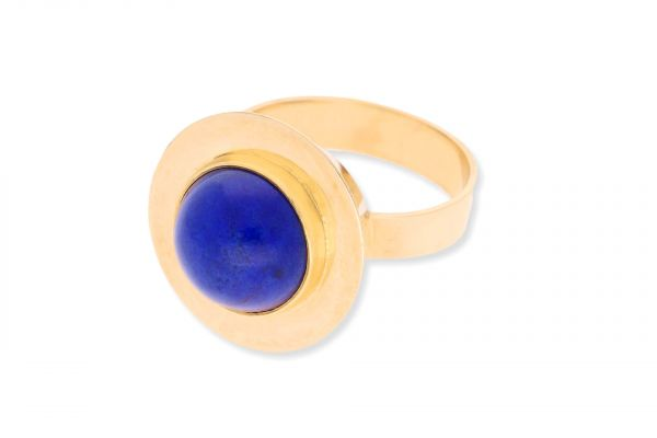 Ring 585 Gelbgold • Lapislazuli