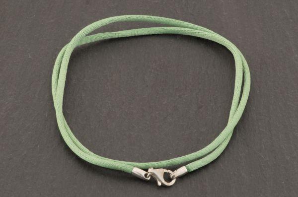 Gerry Eder 925 Silber - Satin Halskette in Grün